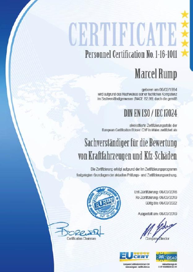 KFZ Zertifikat 1